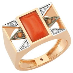 Elice Ring in Rose Gold with Opal and White Diamond