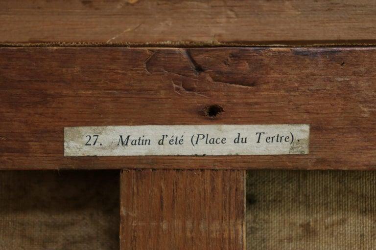Matin D'ete - Place du Tertre, Montmartre - Figures in Town Landscape by E Pavil 6
