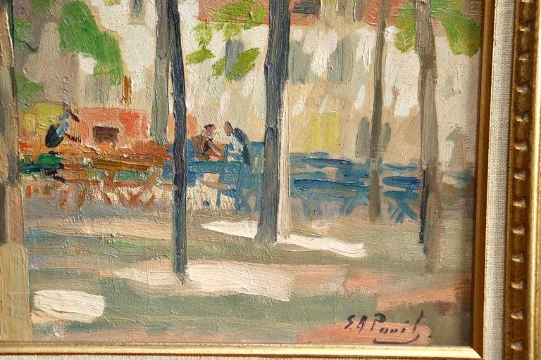 Matin D'ete - Place du Tertre, Montmartre - Figures in Town Landscape by E Pavil 2