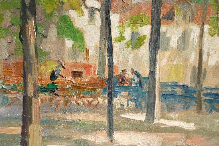 Matin D'ete - Place du Tertre, Montmartre - Figures in Town Landscape by E Pavil 3