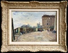 Montmartre - 20th Century Oil, Figures & Buildings in Landscape by Elie Pavil
