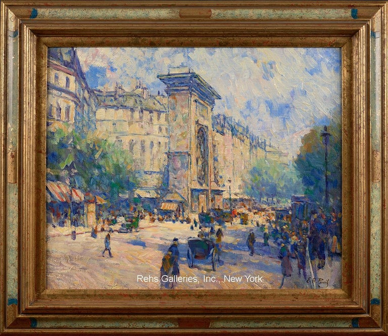 Porte St. Denis - Painting by Elie Anatole Pavil