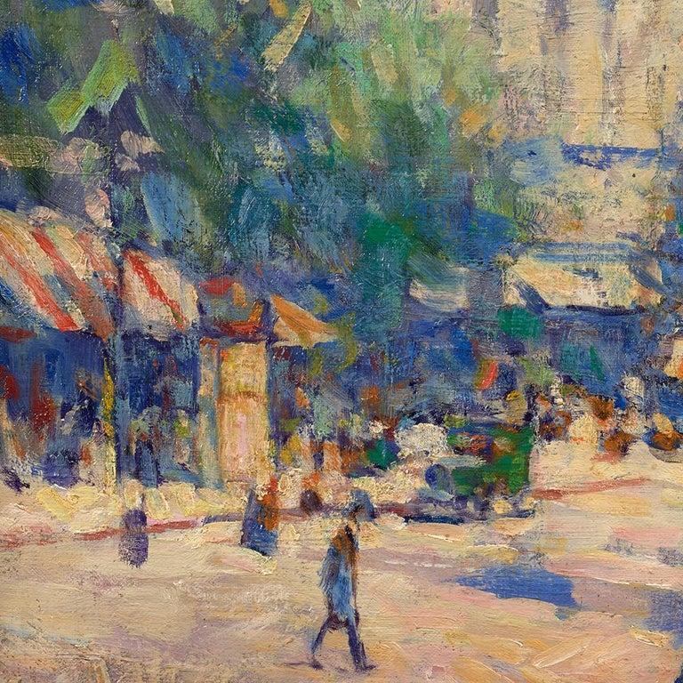 Porte St. Denis - Post-Impressionist Painting by Elie Anatole Pavil