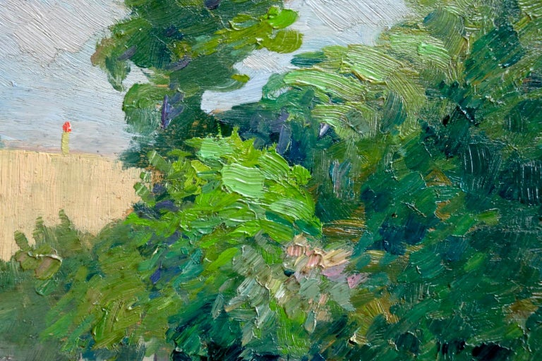 Une rue a Aulnay-Sous-Bois - Environs de Paris - Impressionist Landscape - Pavil For Sale 1