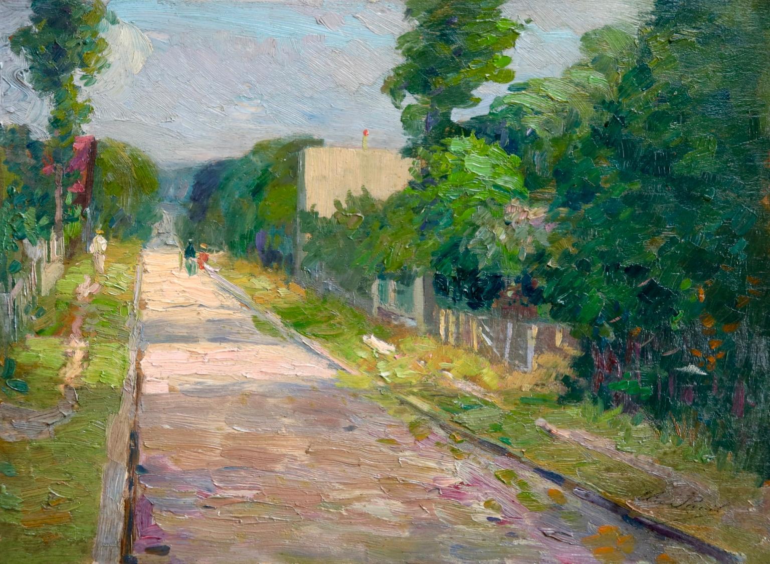 Une rue a Aulnay-Sous-Bois - Environs de Paris - Impressionist Landscape - Pavil