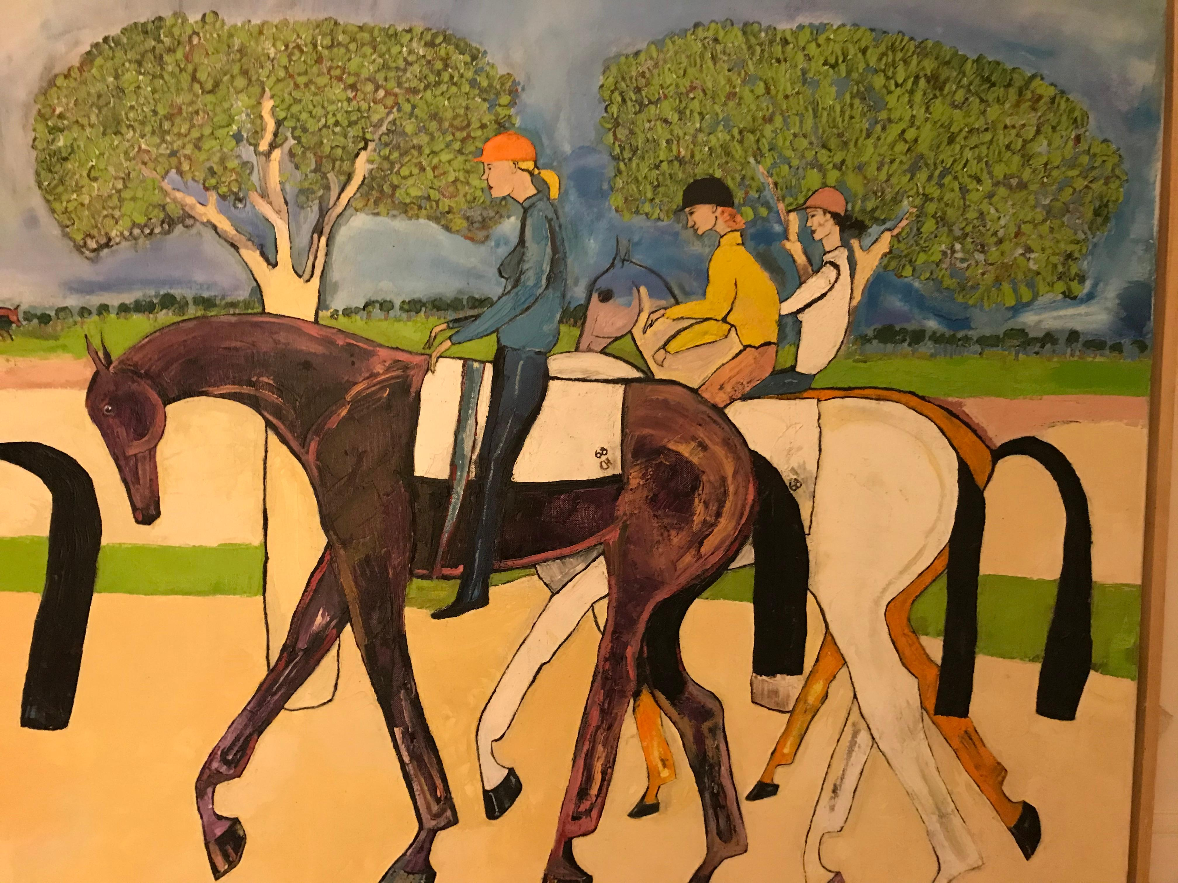 Retour du dernier lot, Christiane Head, Lamorlaye, Chantilly
