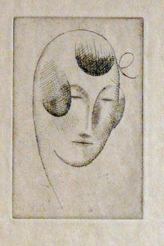 WOMAN'S HEAD (WOMAN'S HEAD WITH RIBBON).