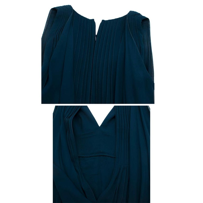 Women's Elie Saab Blue Pleated silk-chiffon gown - Size US 4