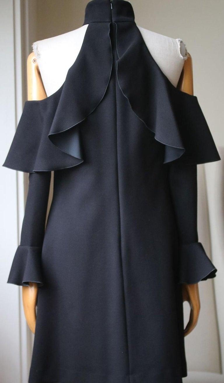 Women's Elie Saab Cold-Shoulder Ruffled Crepe Mini Dress For Sale