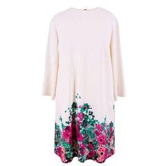 Elie Saab Floral Print Crepe Mini Dress