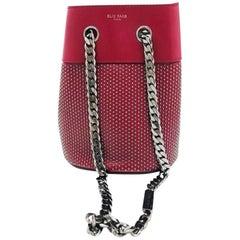 Elie Saab Paris Blood Red Bucket Bag - studs