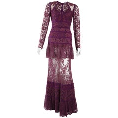Elie Saab Purple Lace Gown