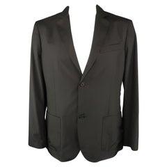 ELIE TAHARI 44 Black Polyester Jacket