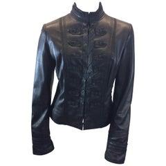 Elie Tahari Black Leather Jacket