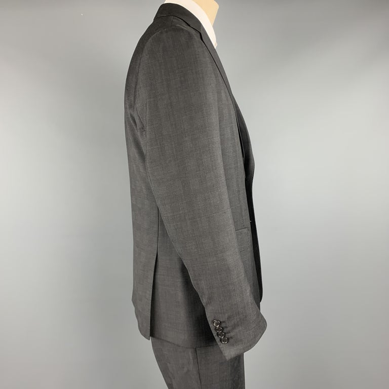 ELIE TAHARI Size 40 Charcoal Glenplaid Wool Notch Lapel Suit NWT In New Condition For Sale In San Francisco, CA