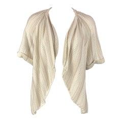 ELIE TAHARI Size XS Beige & Silver Cotton Blend Cardigan