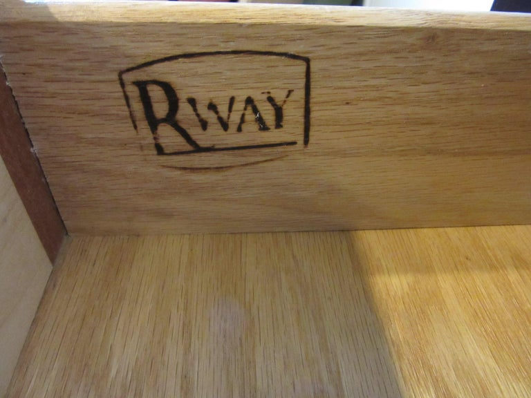 Wood Mid Century Dresser / Chest for Rway Modern For Sale