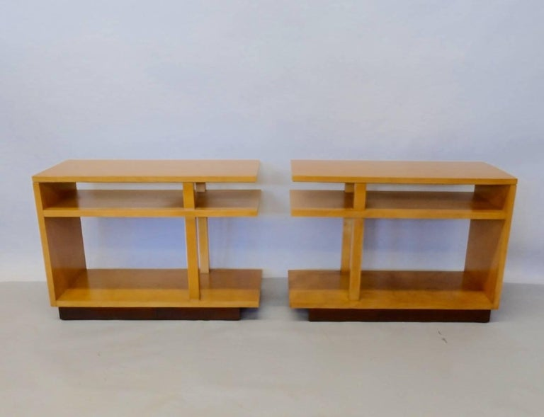 I look at these tables and think of Frank Lloyd Wright. Maybe influenced maybe inspired by Mr. Wright but both great architects and to me, leaders in the first generation of American modernism working at the same time in the early half of the 20th