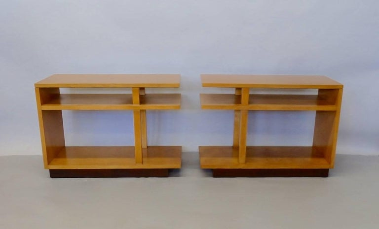 Mid-Century Modern Eliel Saarinen for Johnson Furniture Architecturally Structured Side Tables For Sale