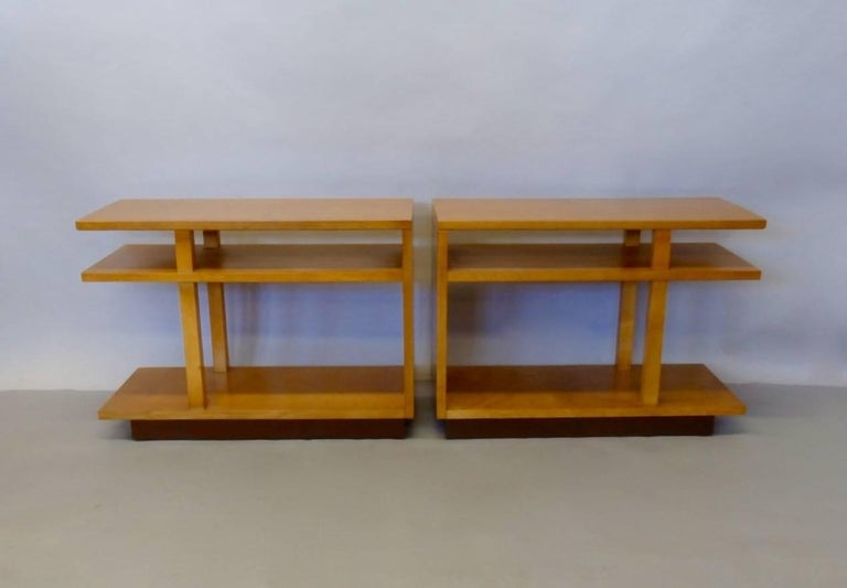20th Century Eliel Saarinen for Johnson Furniture Architecturally Structured Side Tables For Sale