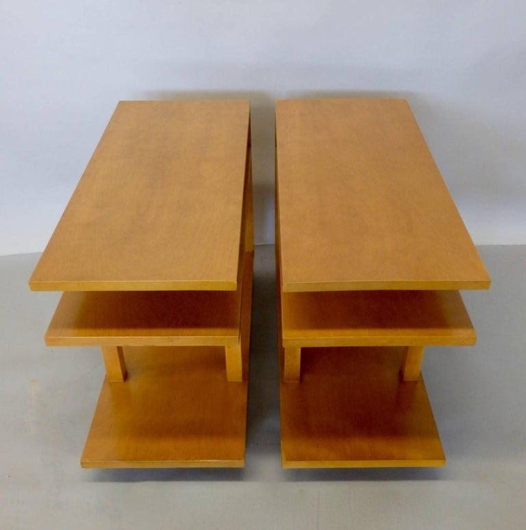 Eliel Saarinen for Johnson Furniture Architecturally Structured Side Tables For Sale 2