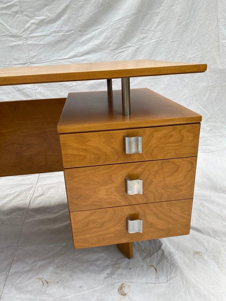 American Eliel Saarinen for Johnson Furniture Executive Desk For Sale