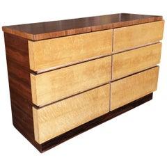 Eliel Saarinen Inspired Streamline Moderne 6-Drawer Dresser