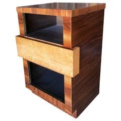 Eliel Saarinen Inspired Streamline Moderne Bedside Side Table