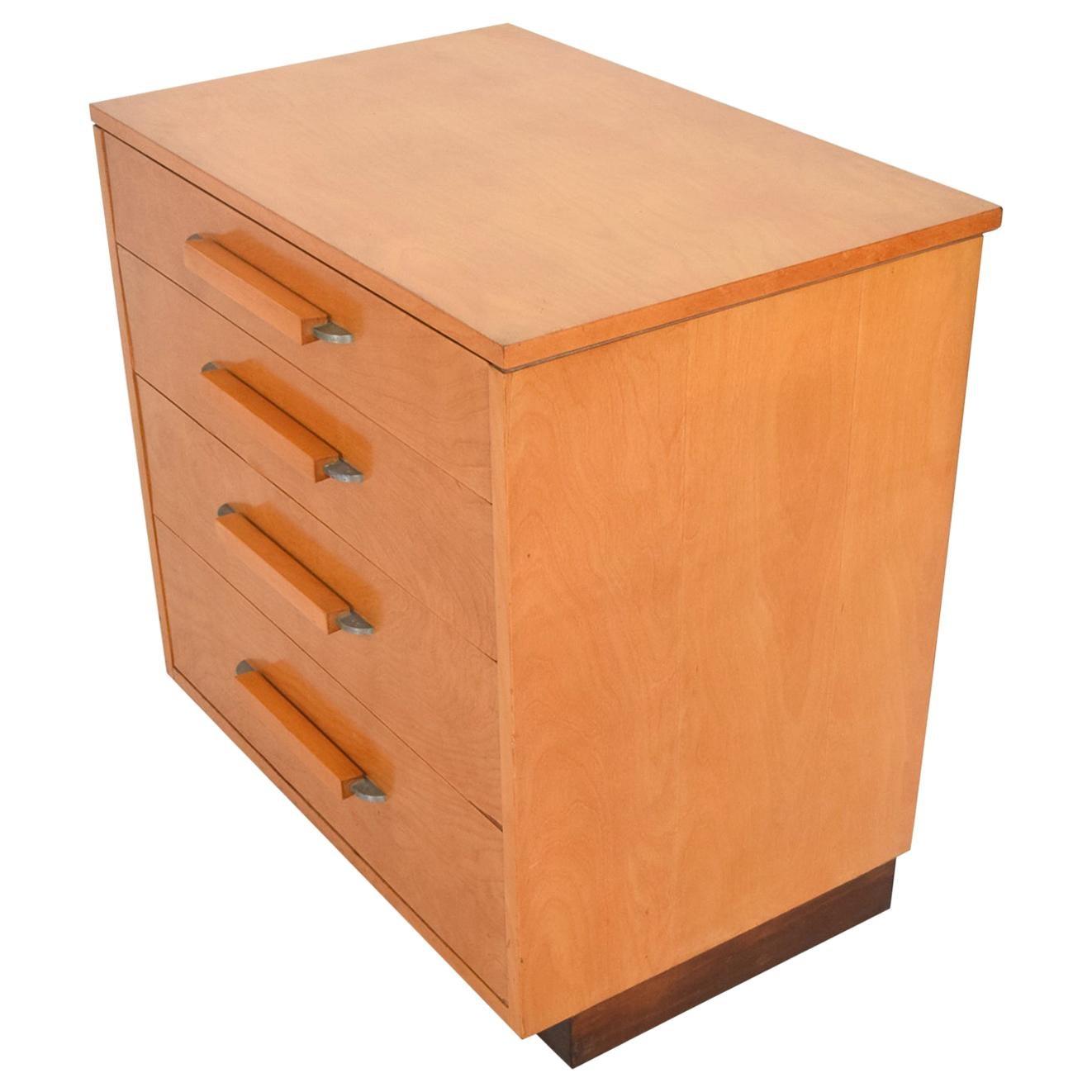 Eliel Saarinen Short Blonde Birch Dresser Classic Art Deco Johnson Co, 1940s