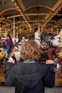 Carousel, New York City, Contemporary Color Photography of Children and Family