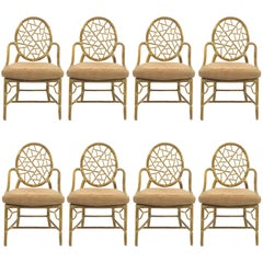 """Elinor McGuire """"Cracked Ice"""" Dining Chairs Set of 8"""