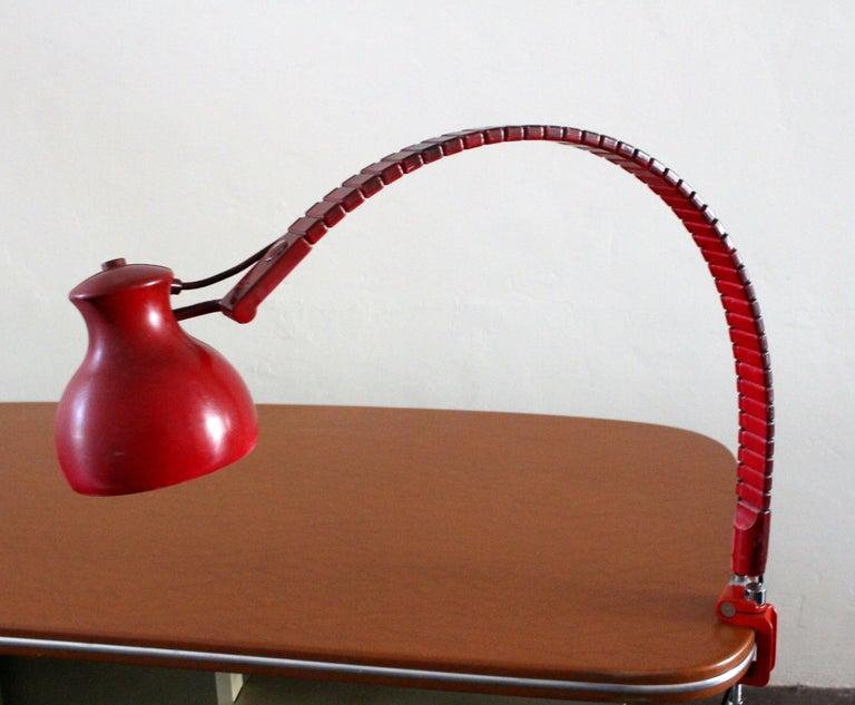 Mid-20th Century Elio Martinelli Luce 1970s Serpente Desk Lamp For Sale