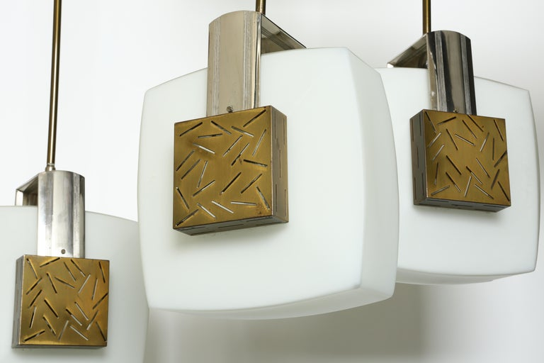 Mid-Century Modern Elio Monesi for Arredoluce Ceiling Pendant For Sale