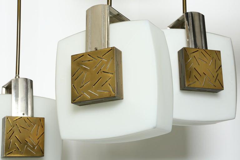 Italian Elio Monesi for Arredoluce Ceiling Pendant For Sale