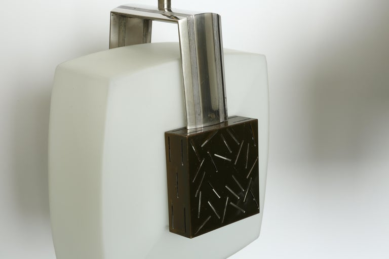 Elio Monesi for Arredoluce Ceiling Pendant In Good Condition For Sale In New York, NY