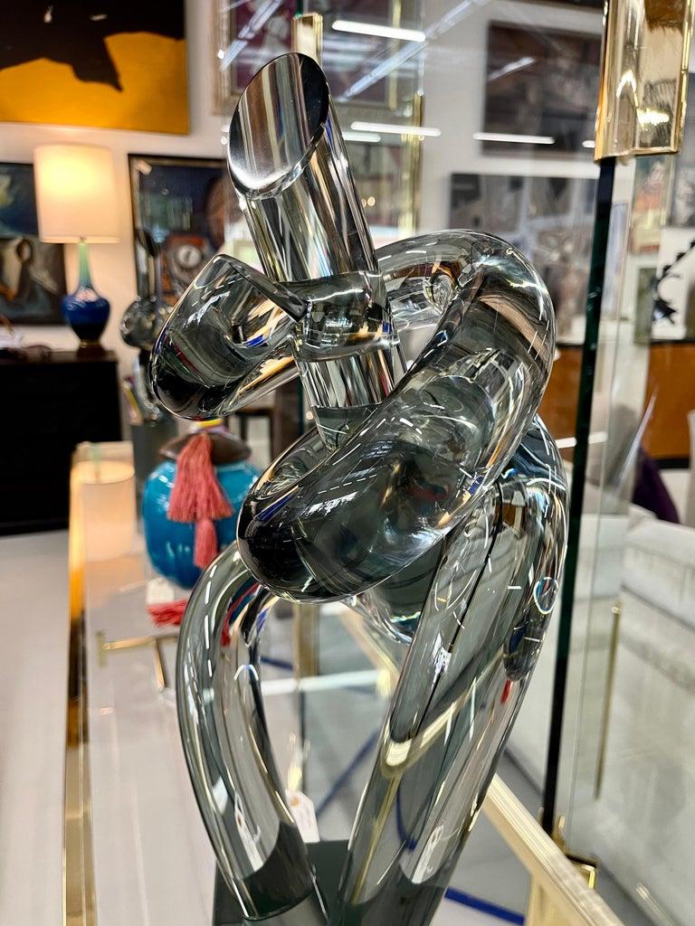 Hand-Crafted Elio Raffaeli Glass Sculpture For Sale