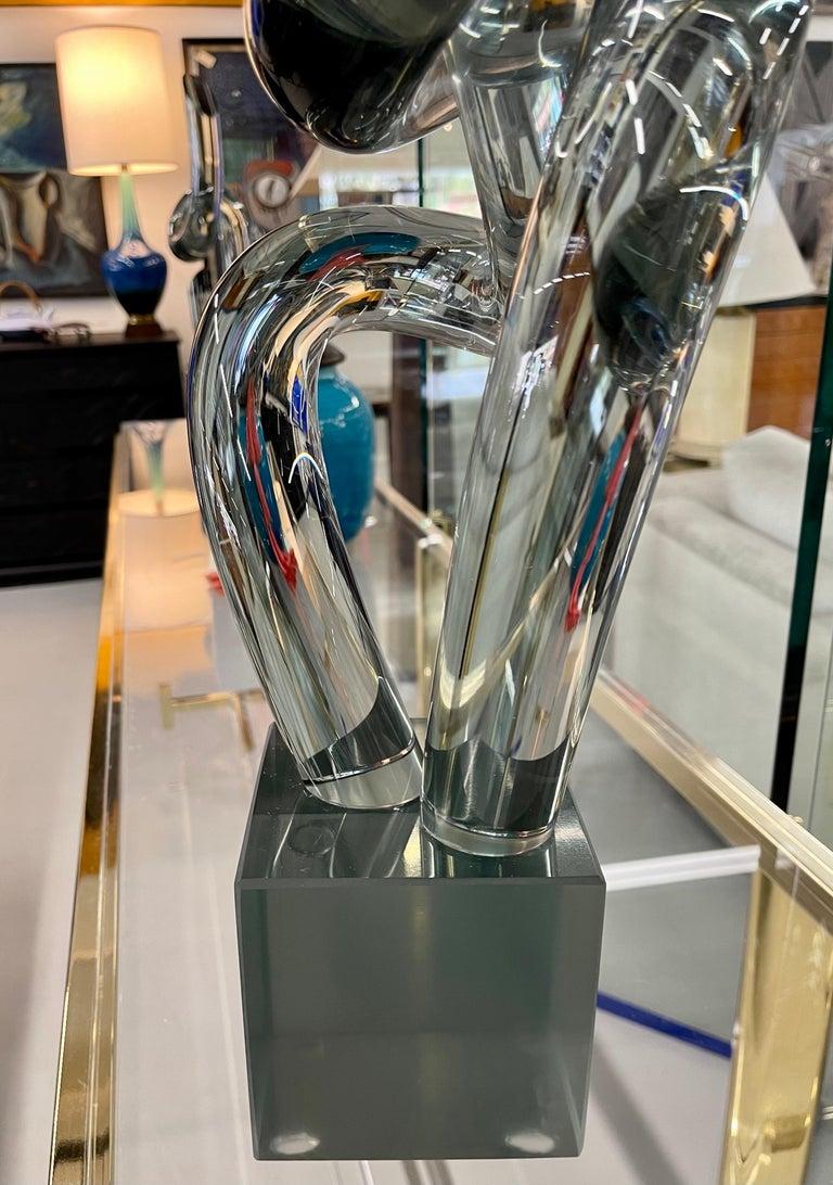 Elio Raffaeli Glass Sculpture In Good Condition For Sale In Palm Springs, CA
