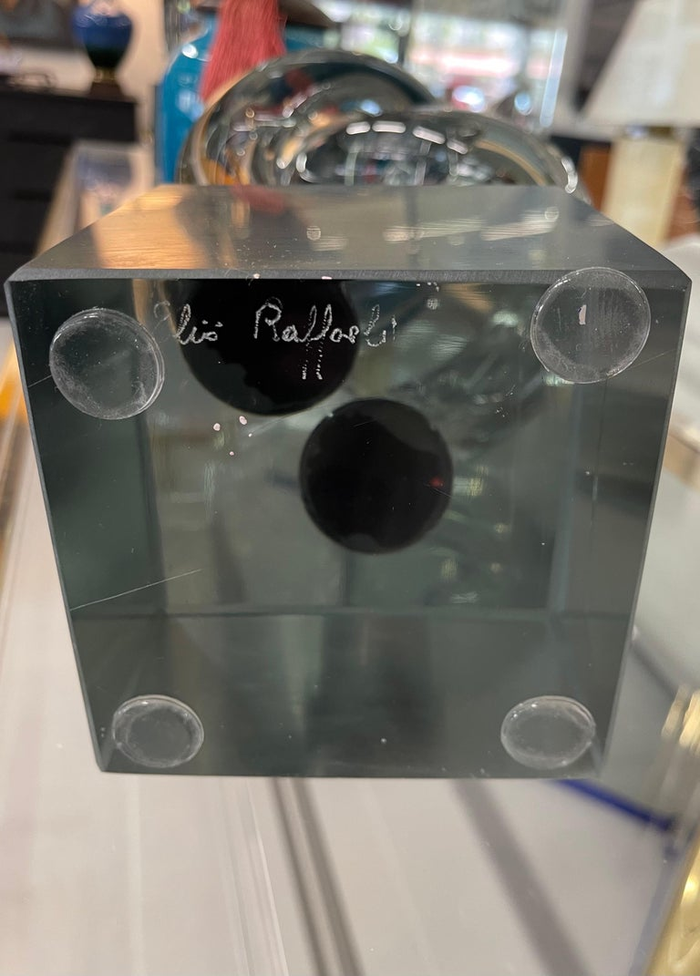 Art Glass Elio Raffaeli Glass Sculpture For Sale