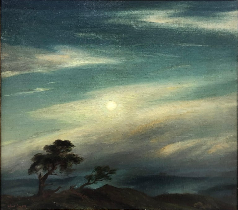 Eliot Clark Landscape Painting - Moonlight and Mist