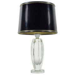 Elis Bergh for Kosta Engraved Glass Table Lamp