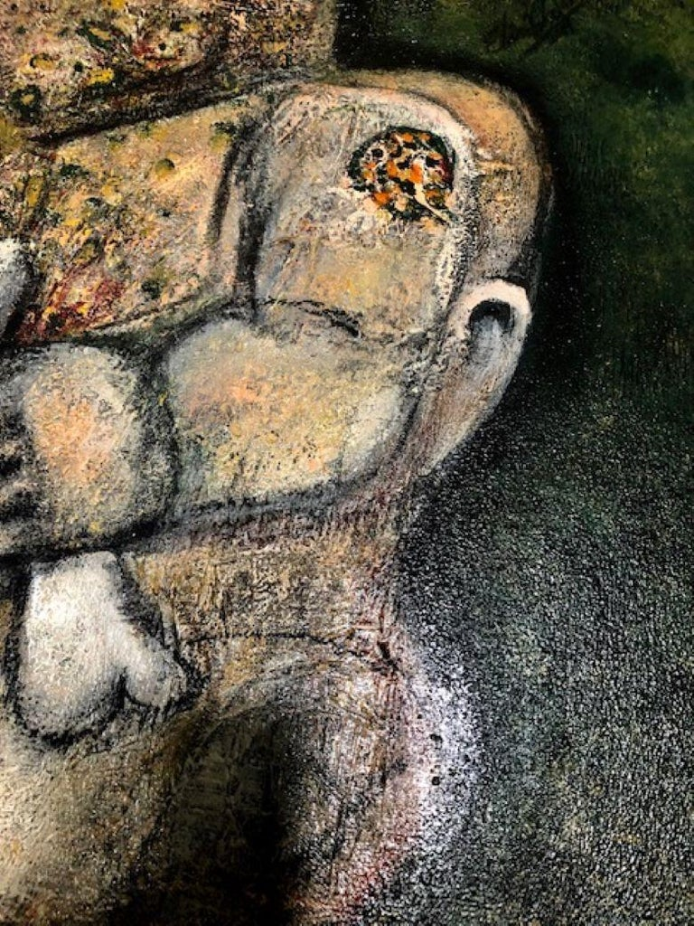 Of The Earth - Painting, Textured, Expressive, Family, Exhibit by Valerio For Sale 3