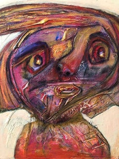 Painting, Layers of Paint, Soft Colors, Faces, Expression, Cuban, Female Artist