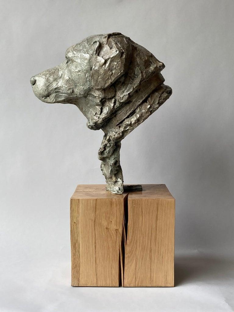 Derby Bronze  - Gold Figurative Sculpture by Elisabeth Cibot