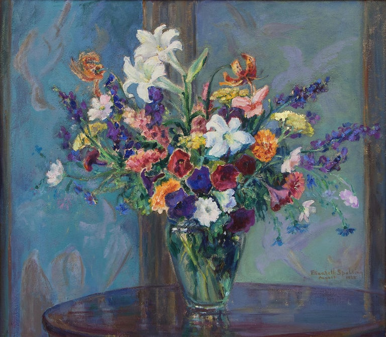 Untitled (Still Life with Flowers) - Painting by Elisabeth Spalding