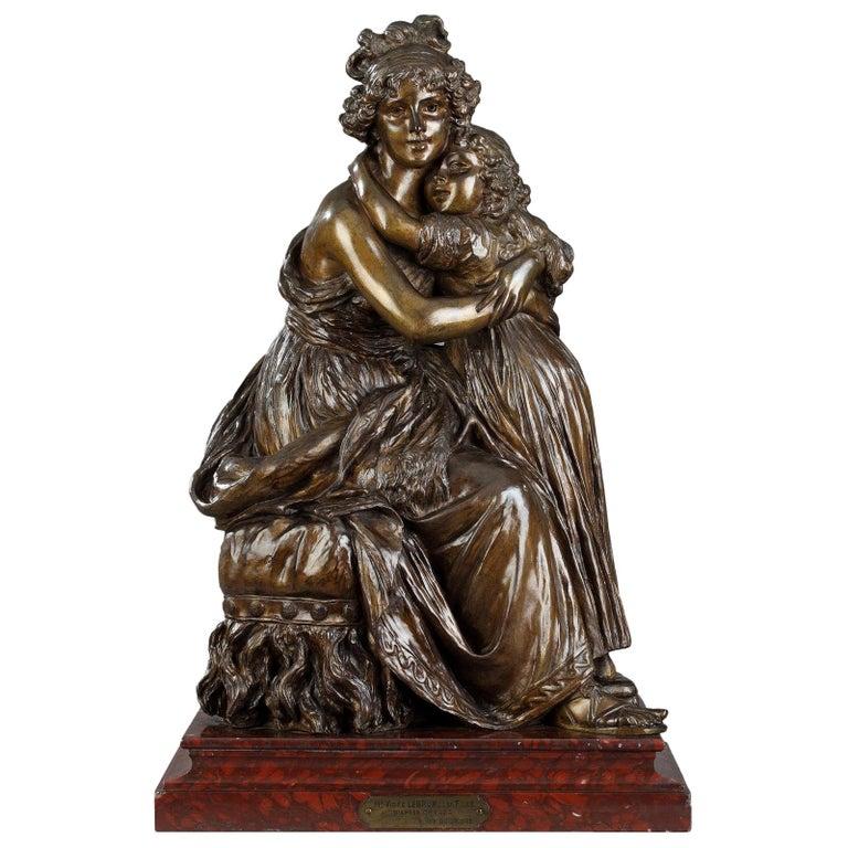 Élisabeth Vigée Le Brun, Bronze Group after the Self-Portrait with Her Daughter For Sale