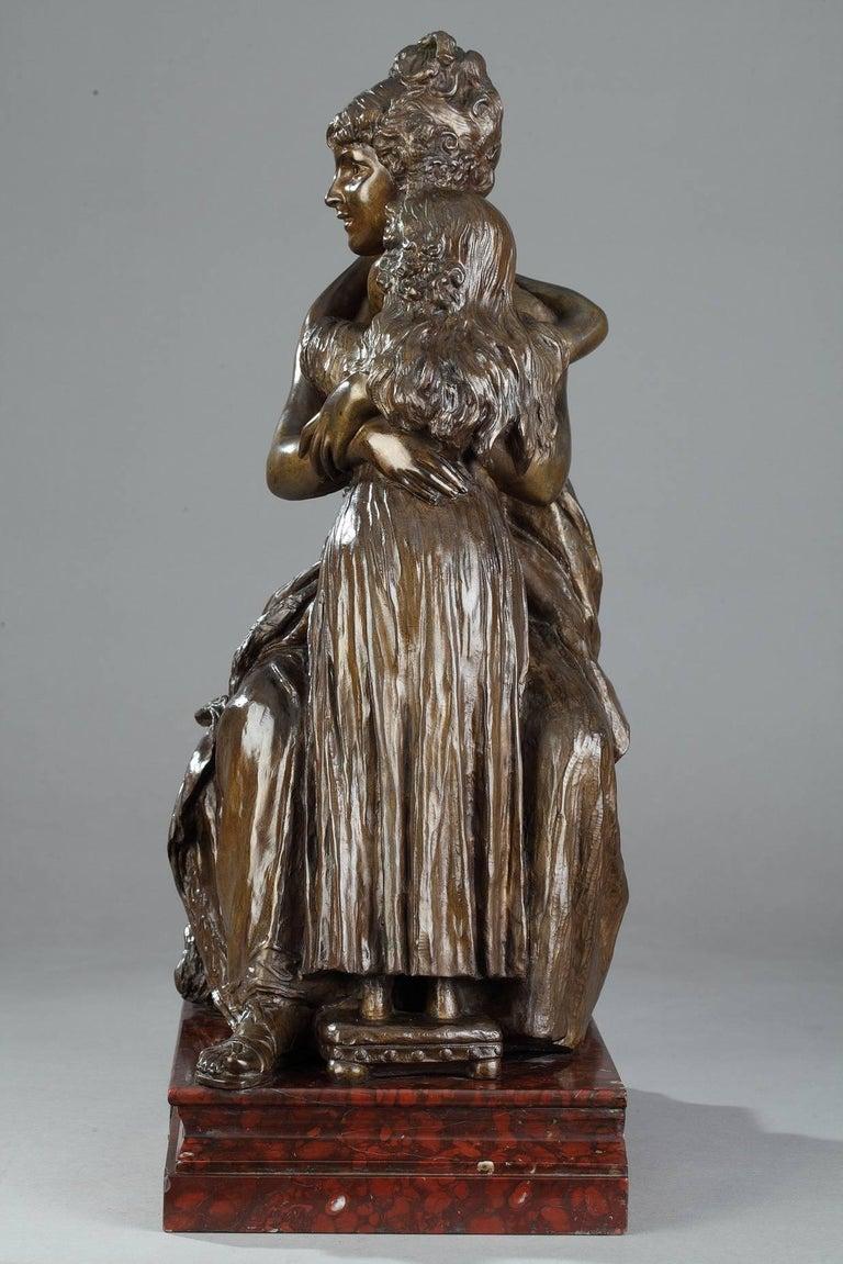 Élisabeth Vigée Le Brun, Bronze Group after the Self-Portrait with Her Daughter For Sale 1