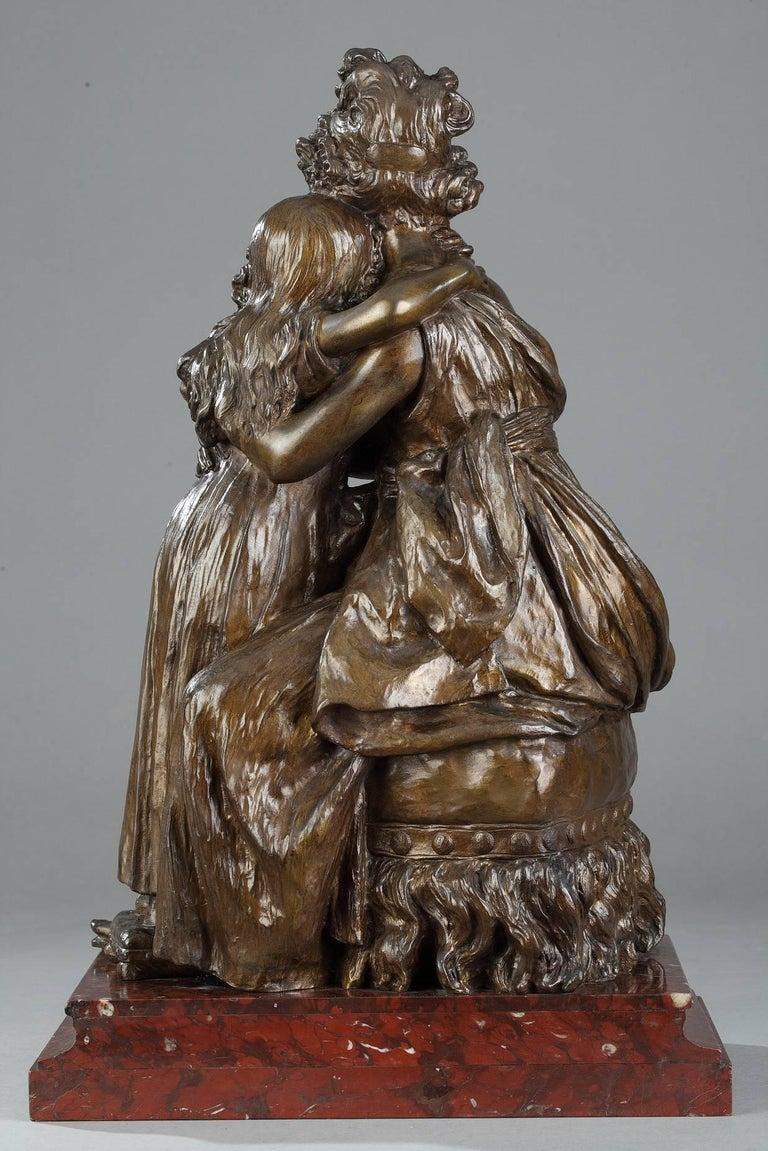 Élisabeth Vigée Le Brun, Bronze Group after the Self-Portrait with Her Daughter For Sale 2