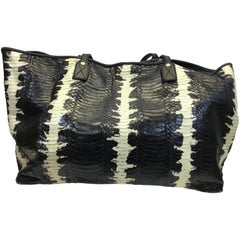 Elisabeth Weinstock Black and White Python Tote