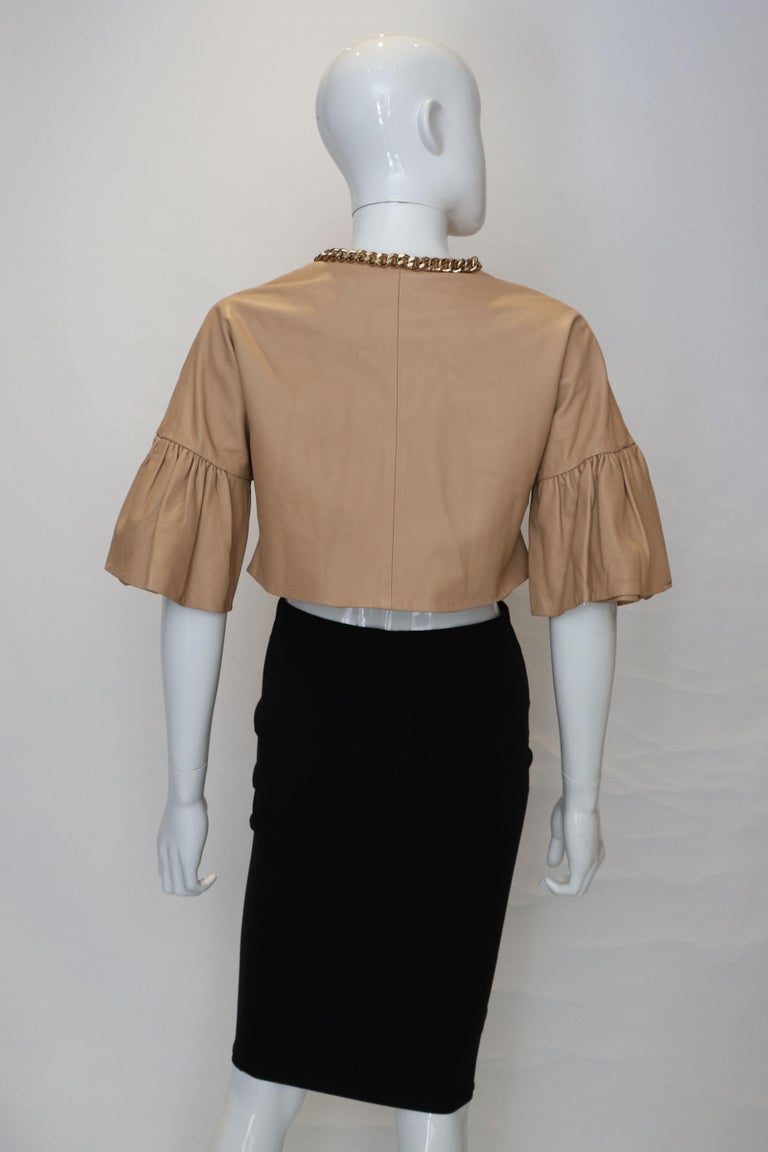 Elisabetta Franchi Leather Bolero For Sale 3