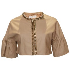 Elisabetta Franchi Leather Bolero